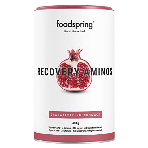 foodspring Recovery Aminos, 400g, Granatapfel, Cleane Post-Workout Recovery ohne künstliche Aromen, Hergestellt in zertifizierten Produktionen in...