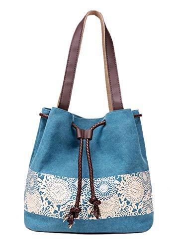 DNFC Damen Handtasche Canvas Schultertasche Umhängetasche Damen Shopper Tasche...