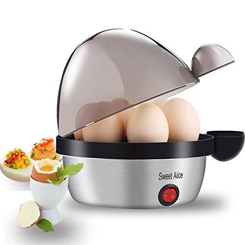 Eierkocher Edelstahl, Sweet Alice Eierkocher Testsieger Egg Cooker für 1-7 Eier...