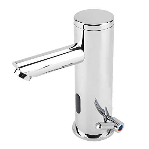 Waschbecken Wasserhähne, Waschbecken Wasserhahn Wasserhahn Kupfer Messing AUTO Infrarot-Sensor heiß und kalt für Badezimmer Küche