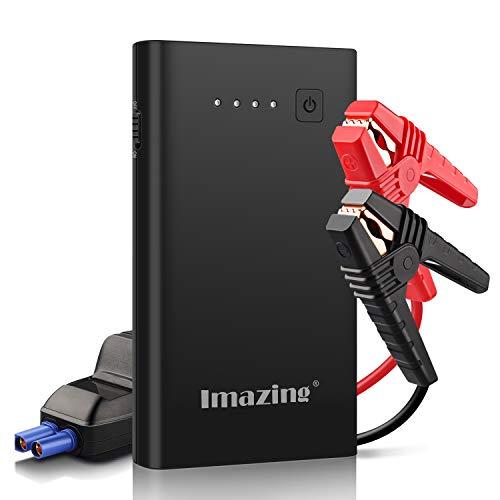 Imazing 1000A Auto Starthilfe Jump Starter (bis zu 7.0L Benzin,5.5L Diesel) Anlasser Autobatterie Powerbank mit Dual USB Ausgänge LED Taschenlampe...
