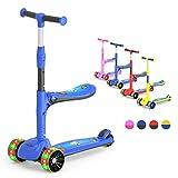 M MEGAWHEELS Sparkesykkel 2 i 1 scooter for barn 3-hjuls, ...