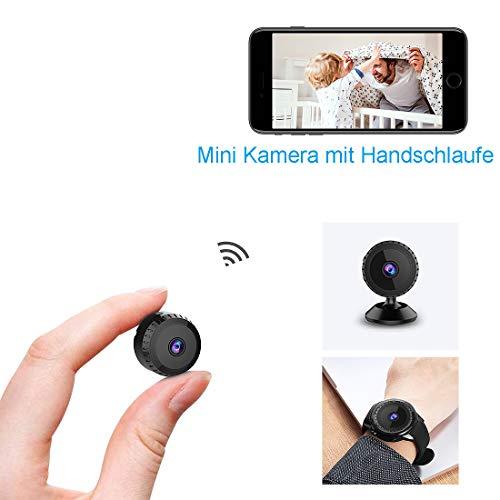 Mini Kamera,TODAYI Klein Akku Überwachungskamera Aussen Innen WLAN Handy mit Bewegungserkennung und Speicher Aufzeichnung Mikro WiFi IP...
