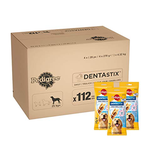 Pedigree DentaStix Daily Oral Care Zahnpflegesnack, 1er pack (1 x 112 Stück)