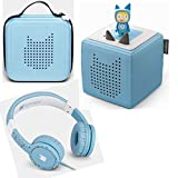 Toniebox starter set blue + storage box for many Tonies + children's headphones Tonie-Lauscher