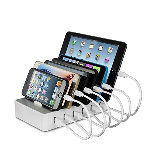 Ladestation Mehrere Geräte YOJA 6 Port USB Multi Ladestation Handy Tablet USB...