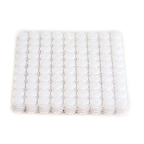 Velcro Tapes 450 pairs 1cm Diameter Velcro Sticky Glue White Mopalwin Sticky Back Coins Hook /& Loop Self Adhesive dots Tapes