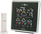 Technoline WD 4026 Weather Direct - weerstation met LED-display, binnen- en buitentemperatuurweergave, evenals weersvoorspelling voor 4-dagen, zwart / zilver