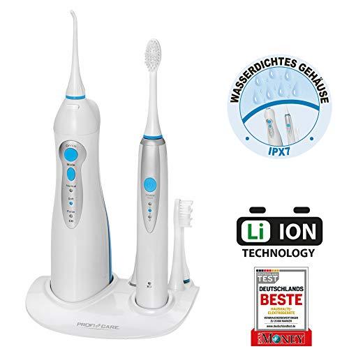 ProfiCare Dental-Center PC-DC 3031, 2in1-Schall-Zahnbürste und Munddusche, Zahnbürste 31.000 Vibrationen/min, Munddusche 4-Stufenschalter zur...