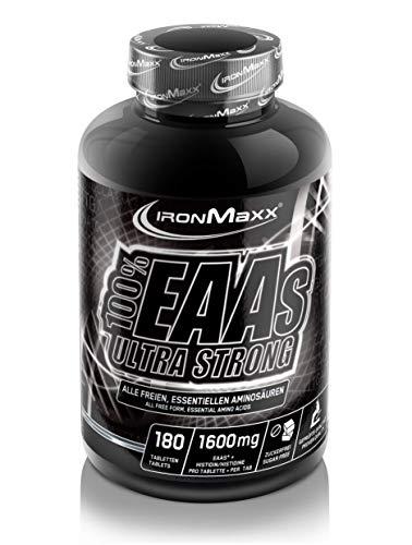 IronMaxx 100% EAAs Ultra Strong - 180 Tabletten - Hochdosierte, essentielle...