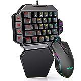 Combinación de teclado y mouse RGB para juegos de una mano RedThunder, ...