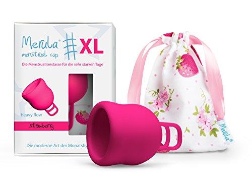 Merula Cup XL strawberry (pink) – Die Menstruationstasse für die sehr starken...