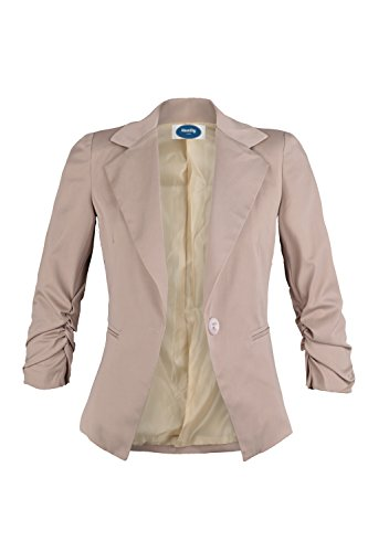 4tuality AO ladies blazer with 3 / 4 arm beige Gr. L