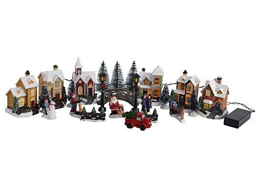zeitzone Weihnachtsstadt Winter Village mit LED-Beleuchtung 25 teilig...