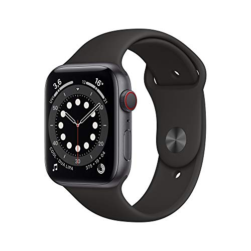Apple Watch Series 6 (GPS + Cellular, 44 mm) Aluminiumgehäuse Space Grau,...