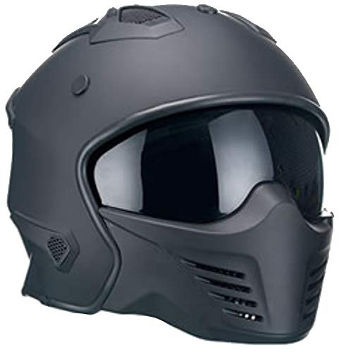 XS, S, M, L, XL Rallox Helmets Integralhelm 051-1 schwarz//matt Rallox Motorrad Roller Sturz Helm Gr/ö/ße M