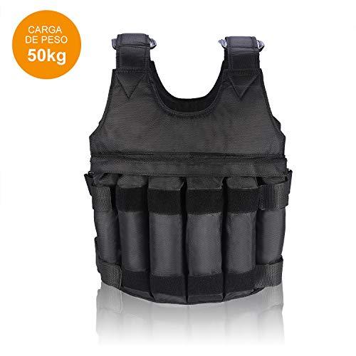 VGEBY1 Gewichtsweste, 50KG Verstellbare Krafttraining Weight Vest Trainingsweste Training Fitness Sport Jacke Jacket für Herren Damen Sand Weste...