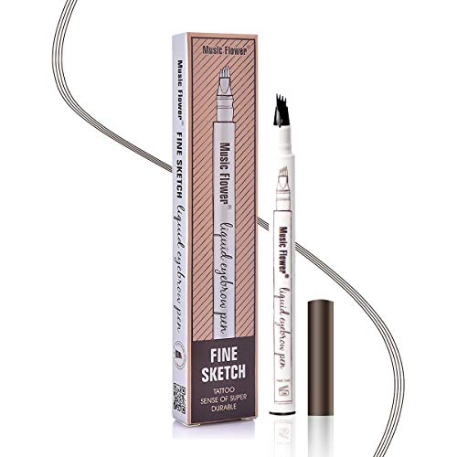 Augenbrauenstift Wasserfest - Waterproof Microblading Eyebrow Pen mit Tips...