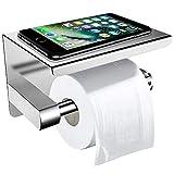 Toiletpapierhouder zonder boren met plank, ZOTO 3M zelfklevend ...