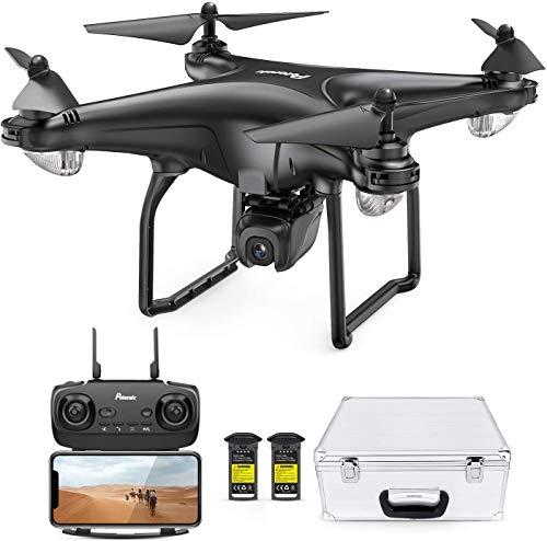 Potensic FPV Drohne mit 1080P HD Kamera, RC Quadrocopter, Dual GPS und Follow me Funktion, Live Übertragung mit 120° Weitwinkel, Hochhaltung,...