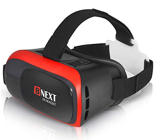 VR-Brille, Virtual Reality-Brille kompatibel mit iPhone & Android [3D Brille] - Erleben Sie Spiele und 360 Grad Filme in 3D mit weicher & komfortabler...