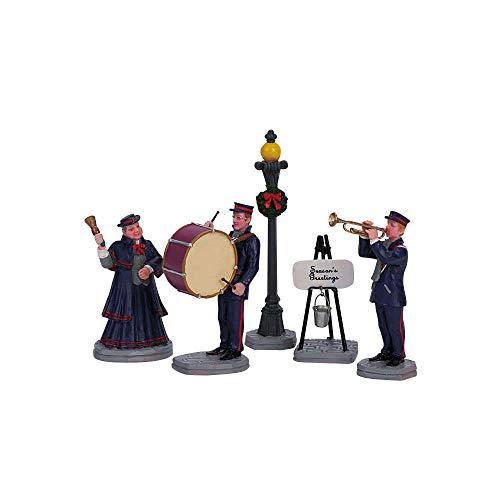 Lemax - Christmas Band - Weihnachtsband - 5er Set - Polyresin - Figuren & Zubehör für die eigene kleine Weihnachtswelt