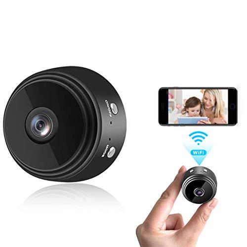 Mini Kamera, 4K HD Mini Überwachungskamera Micro WiFi Akku Kleine Kamera mit...