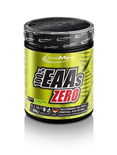 IronMaxx 100% EAAs Zero, Ice Tea Lemon - 500g Pulver -...