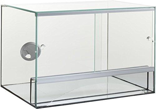 Glas Terrarium + Belüftung 40x30x30 cm 30 40 Schiebetür