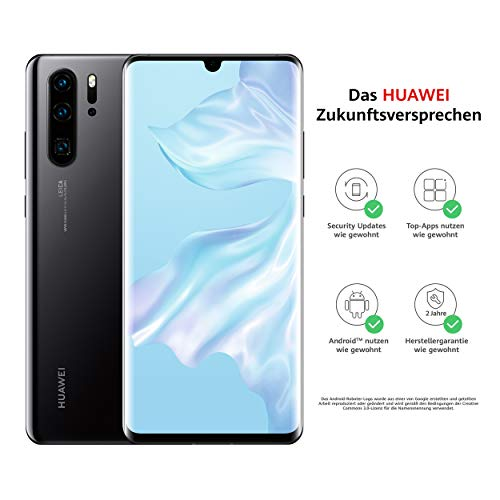 HUAWEI P30 Pro Dual-SIM Smartphone Bundle (6,47 Zoll, 128 GB ROM, 8 GB RAM, Android 9.0) Schwarz + USB-Adapter [Exklusiv bei Amazon] - DE Version