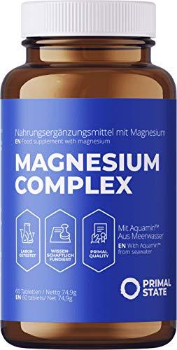 Magnesium Tabletten hochdosiert im 2 Monatsvorrat, Magnesiumkomplex aus...
