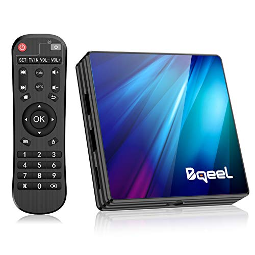 Bqeel Android TV Box Smart tv Box R1 PLUS/4G+64G/ Android 9.0 TV Box mit RK3318...