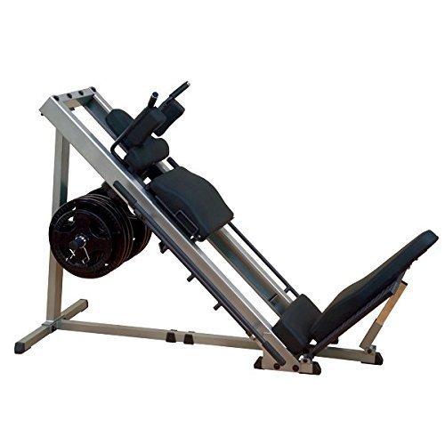 Body-Solid GLPH-1100 Beinpresse 45° / Hackenschmidt mit Gewichten, 50mm (100kg/120kg) (120kg Hantelscheiben Gummi)
