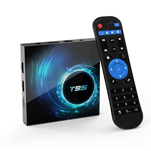 T95 Android 10.0 TV Box, Allwinner H616 Quadcore 2 GB RAM 16 GB ROM Mali-G31...