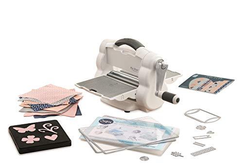 Sizzix Big Shot Foldaway, Kompakte manuelle Stanz- und Prägemaschine, einschließlich Bigz- und Thinlits-Schablonen, Cardstock und Filz, Größe A5...