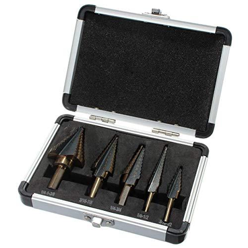 4-22mm Brocas Escalonadas Acero de Alta Velocidad 4241 Taladro Pagoda HSS Taladro Espiral Paso Broca Cortador de Agujero