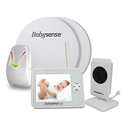 BABYSENSE SET Babyphone mit Sensormatten und Kamera: Babysense Video V35...