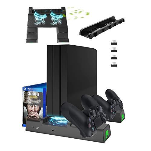 PS4 Slim Pro Vertical Standfuß Lüfter, Likorlove Vertikal Stand Cooling Fan...