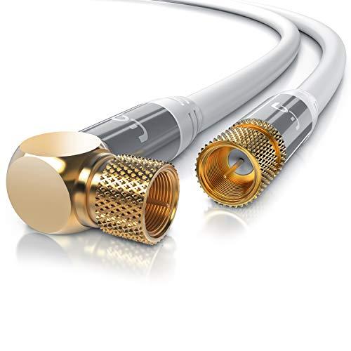 CSL - 7,5m SAT Kabel HDTV 90 Grad gewinkelt - Premium SAT Koaxialkabel...