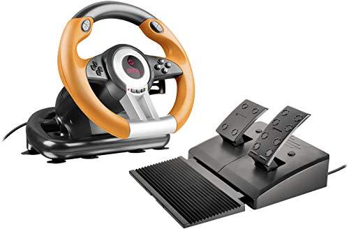 Speedlink DRIFT O.Z. Racing Wheel - USB-Gaming-Lenkrad für PC/Computer - Pedale...