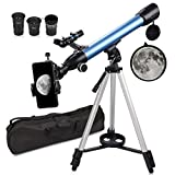 QUNSE telescope astronomy 60/500 20x-200x telescope telescope for children beginners amateur astronomers with ...