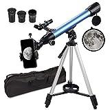 QUNSE Teleskop Astronomie 60/500 20x-200x Fernrohr Teleskop...
