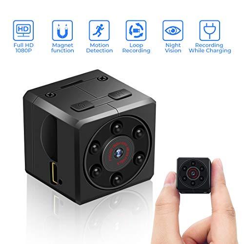 euskDE Mini Kamera, HD 1080P Tragbare Kleine Überwachungskamera Sicherheit Kamera,Mikro versteckte Kamera mit Bewegungserkennung und Infrarot...