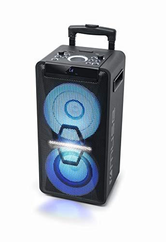 Muse DJ PA-Anlage mit Akku, 300 Watt, mit CD, Bluetooth und Licht-Effekten (USB,...