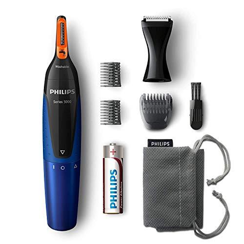 Philips zastřihovač vlasů do uší a uší řady 5000 pro zastřihování vlasů z uší a uší a obočí bez škubání NT5175 / 16 (s vousy a hřebeny ...