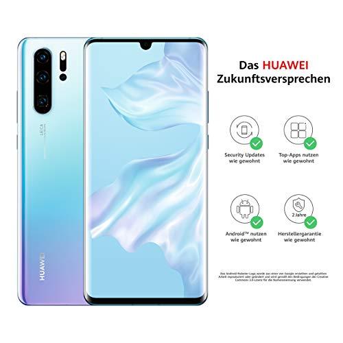 HUAWEI P30 Pro Dual-SIM Smartphone Bundle (6,47 Zoll, 256 GB ROM, 8 GB RAM, Android 9.0) Breathing Crystal + USB-Adapter [Exklusiv bei Amazon] - DE...