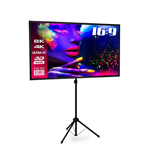 ESMART Expert X-Type Ultralightweight Stativ-Leinwand [Größenauswahl] 200 x 112 cm (90') 16:9   Vollmaskierung   Heimkino Beamer LCD LED   Schneller...