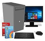 Multimedia PC complete system | Intel CPU @ 2,8GHz | 8GB | 256GB SSD | DVD burner | 19 inch ...