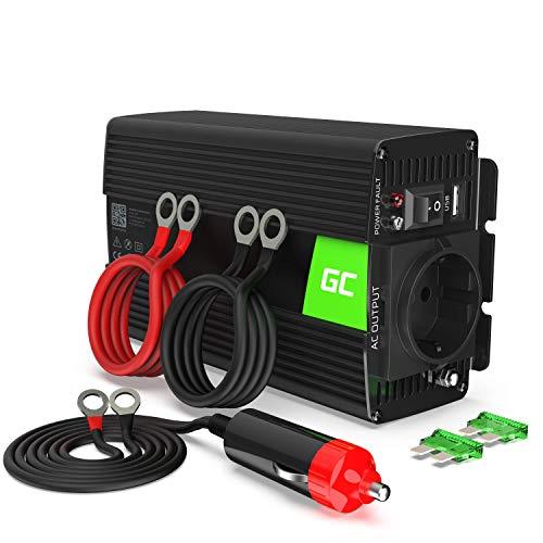 Green Cell® 500W/1000W 12V auf 230V Reiner Sinus Spannungswandler Wechselrichter Konverter Pure Sine Power Inverter Umwandler für Auto,...