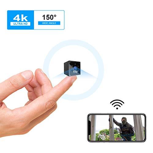 Mini Kamera, KEAN 4K HD Mini Überwachungskamera Lange Batterielaufzeit Kompakte Kleine WLAN Sicherheitskamera für Innen WiFi Minikamera live Handy...
